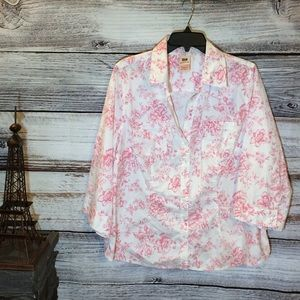 Faded Glory Stretch Button-up Blouse